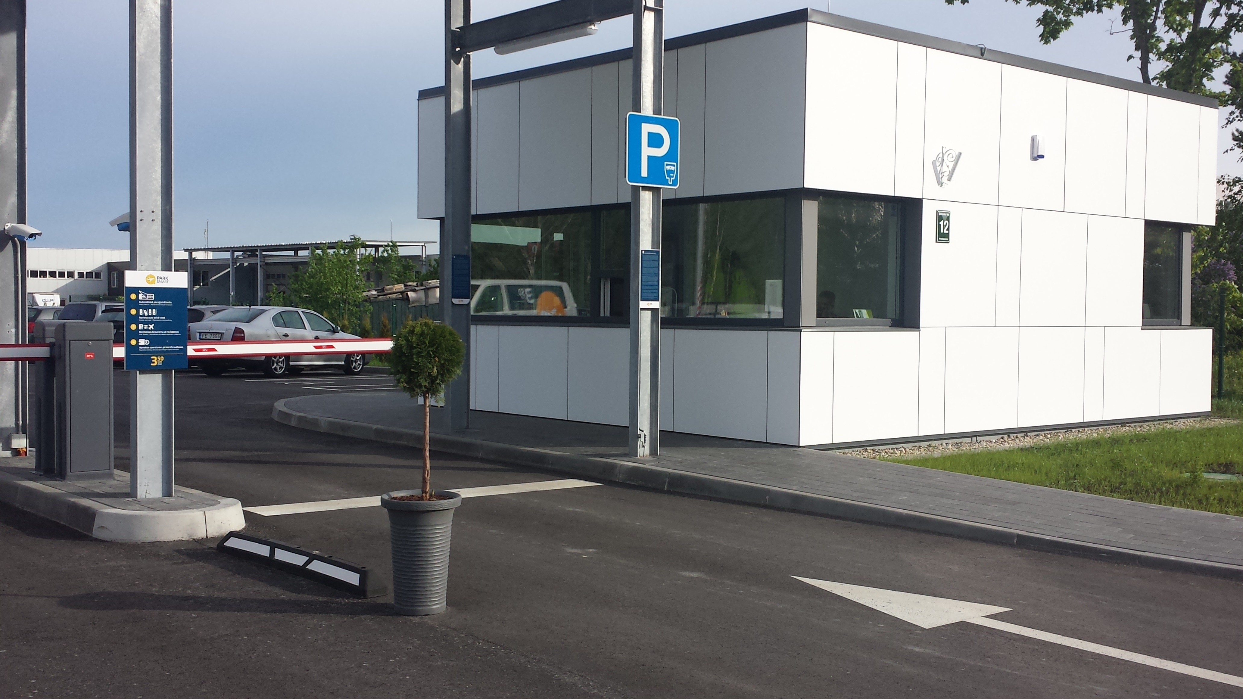 Park Smart Riga parking entrance